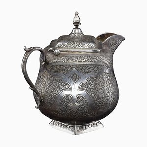 Small Traditional Iranian Silver Teapot, 1950s