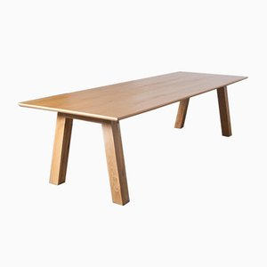 Large Contemporary Oak Conference Table