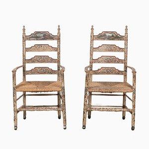 Antike Hindelooper Stühle, 2er Set