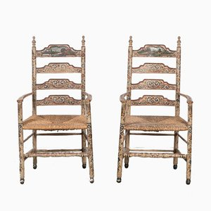 Antique Hindelooper Chairs, Set of 2