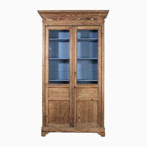 Antique Tallboy Vitrine Cabinet