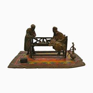 Bronze Chess Players by Anton Chotka