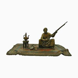 Bronze The Man with His Rifle on a Carpet