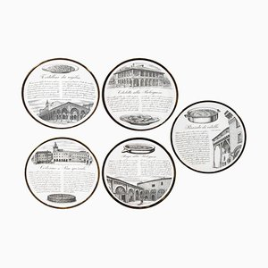 Vintage Recipes Plates by Piero Fornasetti, 1960s, Set of 5