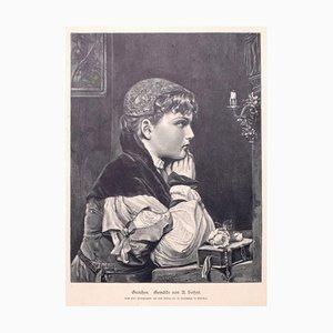 Alfred Seifert, Frau, 1905, Zinkograph