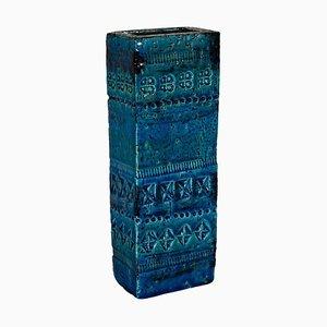 Vase from Rimini Blue Series by Aldo Londi for Bitossi, 1960s
