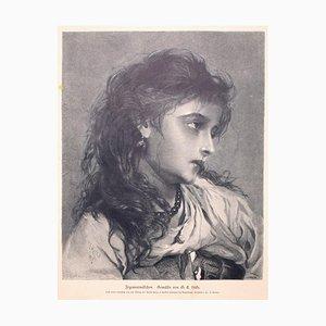 George Elgar Hicks, Woman, 1877, Original Zincography