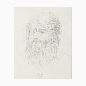 Eugène Berman, Head of Man, 1950s, Original Pencil Drawing