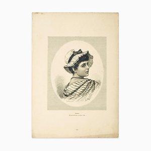 nach G. Stadelmann, Woman, 1905, Original Zincograph