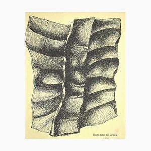 Lithographie Originale de Fernand Léger, Composition, Mid-20th Century