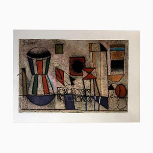 Franco Gentilini, Poetical Composition, 20th Century, Original Offset
