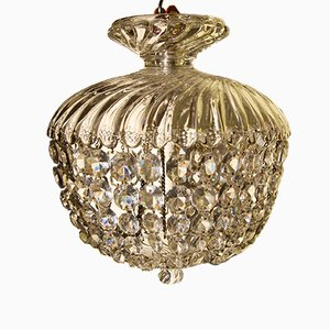 Small Vintage Crystal Chandelier from Baccarat