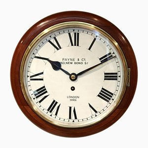 Antique Mahogany 10 Inch Fusee Dial Clock from Payne & Co