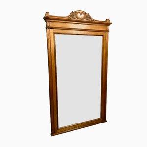 Antique Art Nouveau Mahogany Mirror