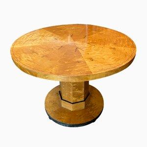 Tavolo da pranzo Art Deco rotondo, anni '20