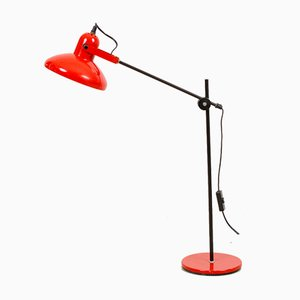 Fiery Red Adjustable Table Lamp, 1970s