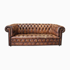 English Chesterfield Padded Leather Sofa from Kenrick, 1970s