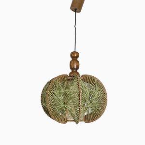 Mid-Century String Art Pendant Lamp, 1950s