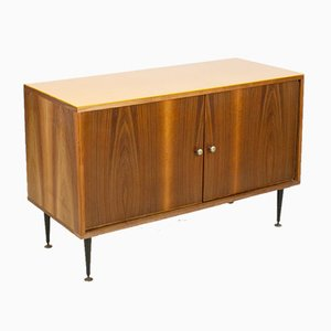 Mid-Century Sideboard with Yellow Glass Top from Tatra, 1960s