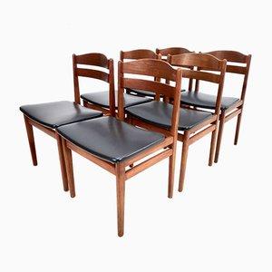 Dänische Mid-Century Teak Esszimmerstühle von Boltinge Møbelfabrik, 1960er, 6er Set