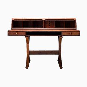 Italian Rosewood Writing Desk by Gianfranco Frattini for Bernini, 1956