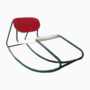 Rocking Chair in the Style of Dirk Van Sliedrecht, 1960s