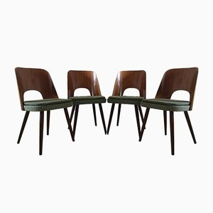 Mid-Century Dining Chairs by Oswald Haerdtl for TON, 1950s, Set of 4