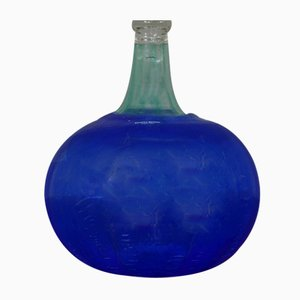 Swedish Blown Glass Bottle by Bertil Vallien for Kosta Boda, 1960s