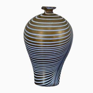 Schwedische Mundgeblasene Glasvase von Bertil Vallien für Kosta Boda, 1960er
