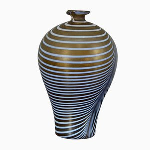 Swedish Blown Glass Vase by Bertil Vallien for Kosta Boda, 1960s