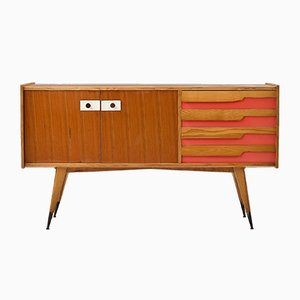Credenza in Wood, Laminate & Brass Attributed to Gio Ponti, Italy, 1960s