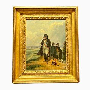 Napoleon Bonaparte Supervisioning His Troops, Französische Schule, 19. Jahrhundert, Öl auf Leinwand