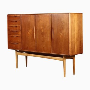 Vintage Danish Teak Highboard by Henry Rosengren for Brande Møbelindustri