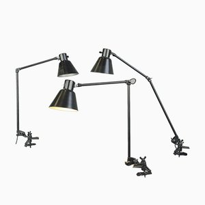 Industrial Clamp on Task Table Lamp from Schaco, 1930s