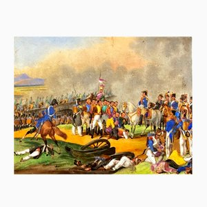 after Bellangé Joseph Louis Hyppolite, Napoleon I in the Battlefield, 1900s, Painting on Porcelain