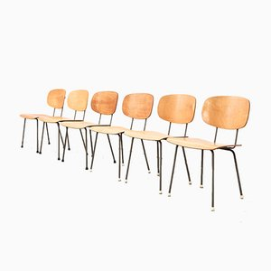 Mid-Century Model 116 Dining Chairs by Wim Rietveld for Gispen, Set of 6