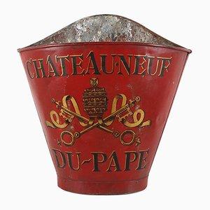 Raisin de Château Neuf-du-Pape Antique en Métal Peint à la Main