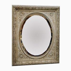 Antique Scottish Carved Bleached Oak Mirror