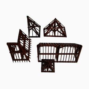 Modelli architettonici vintage, anni '20, set di 4