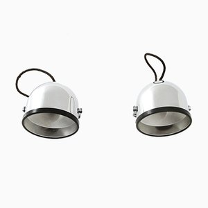 Chormed Wall Lights by Gae Aulenti & Livio Castiglioni for Stilnovo, 1970s, Set of 2