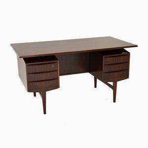 Danish Rosewood Freestanding Desk, 1960s