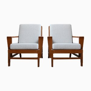 Mid-Century French Armchairs by René Gabriel, 1940s, Set of 2