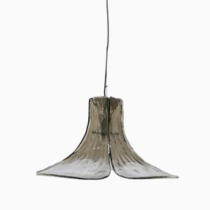 Mid-Century Smoked Glass Gingko Leaf Lamp by J.T. Kalmar for Franken KG