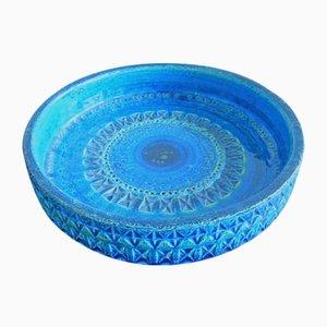Mid-Century Italian Rimini Blu' Series Ceramic Bowl by Aldo Londi for Bitossi, 1960s