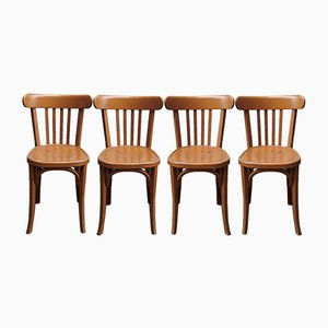 Bistro Chairs, 1930s, Set of 4