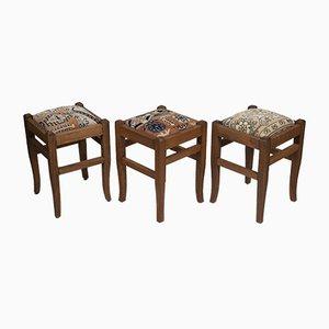 Turkish Rug Chairs, Set of 3