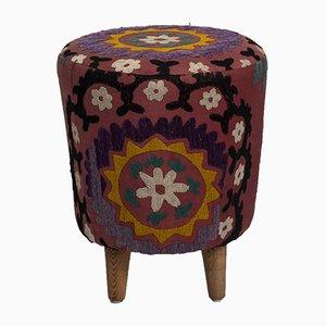 Moderne Handgewebte Usbekische Suzani Ottomane