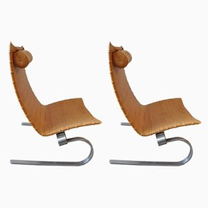 PK20 Lounge Chairs by Poul Kjærholm for Fritz Hansen, 1980s, Set of 2