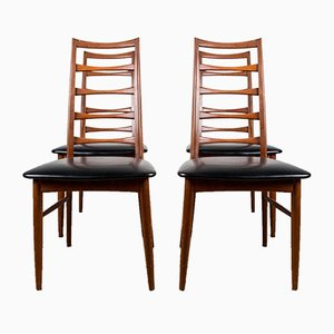 Danish Teak Model Liz Side Chairs by Niels Koefoed for Koefoeds Hornslet, 1960s, Set of 4