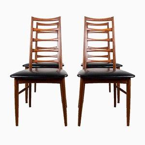 Danish Teak Model Liz Side Chairs by Niels Koefoed for Koefoeds Hornslet, 1960s, Set of 4